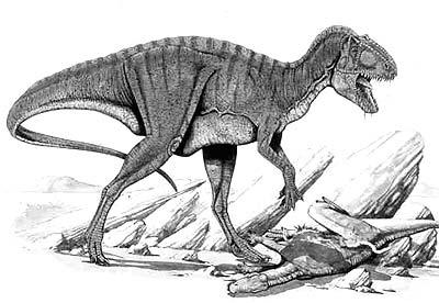 An artist's impression of Acrocanthosaurus