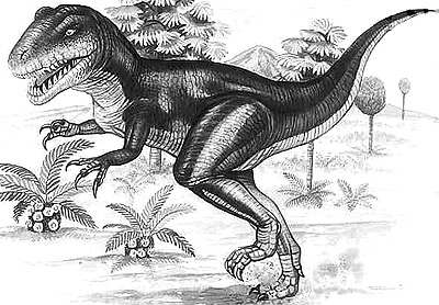 An artist's impression of Afrovenator
