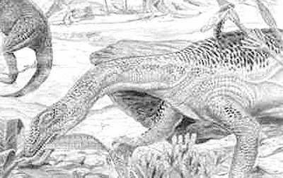 An artist's impression of Anchisaurus