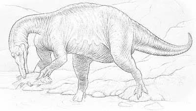 An artist's impression of Baryonyx