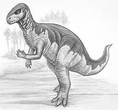An artist's impression of Camptosaurus