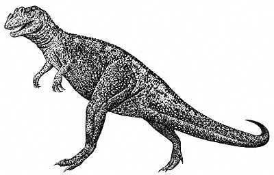 An artist's impression of Ceratosaurus