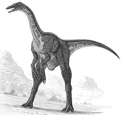 An artist's impression of Deinocheirus