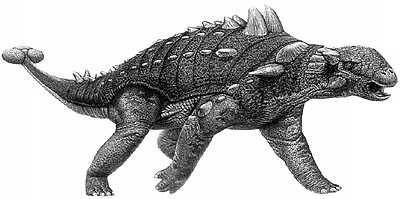 An artist's impression of Euoplocephalus