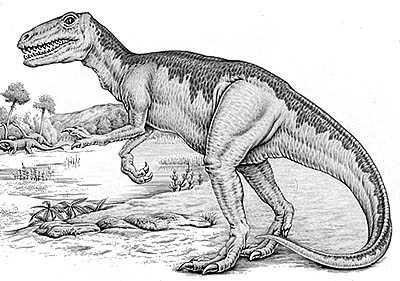 An artist's impression of Gasosaurus