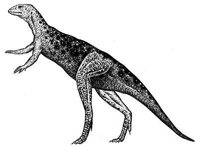 An artist's impression of Lesothosaurus