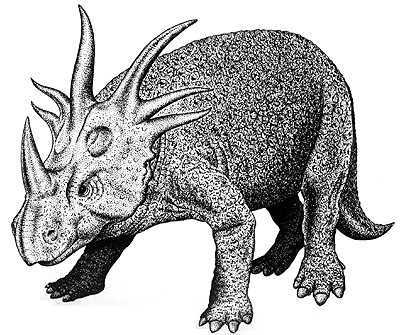 An artist's impression of Styracosaurus
