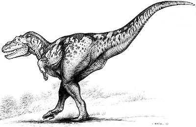 An artist's impression of Tarbosaurus
