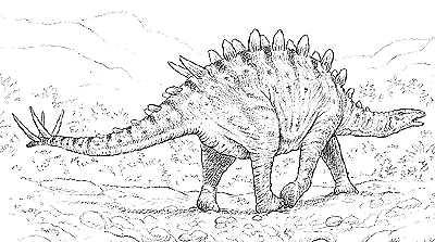 An artist's impression of Tuojiangosaurus