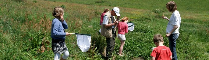 A family and friends part in a citizen science project